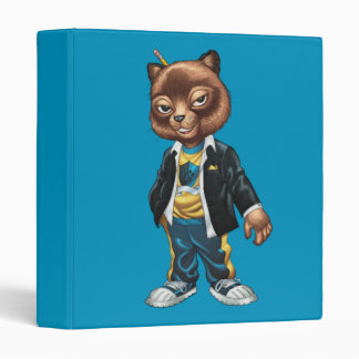 Cool For School Cat Drawing by Al Rio 3 Ring Binder