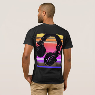 cool for the DJ, headphone with stripes T-Shirt