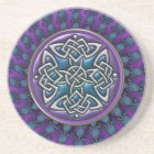 Cool Fractal Mandala Celtic Knot Coaster