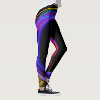 Cool Fractal Psychedelic Neon Glow Abstract Ball Leggings