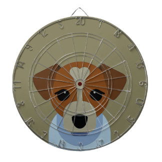 Cool Frenchdog Design Dartboard