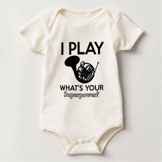 cool frenchorn designs baby bodysuit
