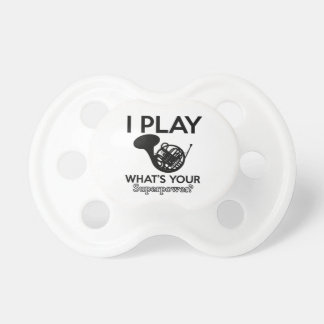cool frenchorn designs pacifier