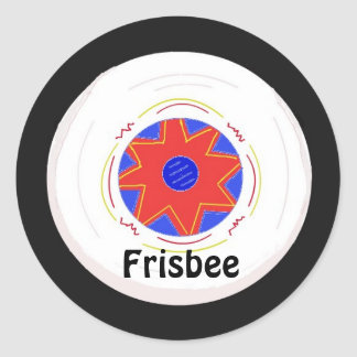 Cool Frisbee Design Classic Round Sticker