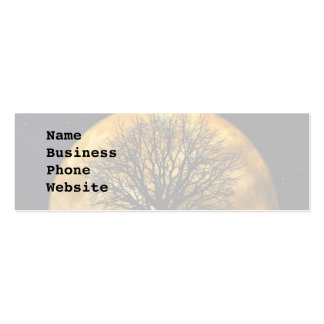 Cool Full Harvest Moon Tree Silhouette Gifts Double-Sided Mini Business Cards (Pack Of 20)