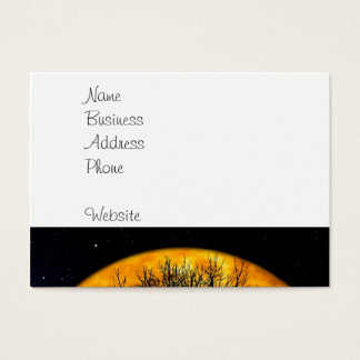 Cool Full Harvest Moon Tree Silhouette Gifts Business Card