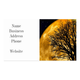 Cool Full Harvest Moon Tree Silhouette Gifts Pack Of Standard Business Cards