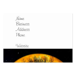 Cool Full Harvest Moon Tree Silhouette Gifts Large Business Card