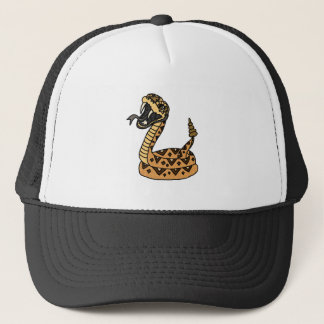 Cool Fun Artistic Rattlesnake Art Trucker Hat