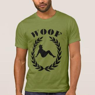 Cool Fun Bear Pride Bear In Laurel Leaves WOOF T-Shirt