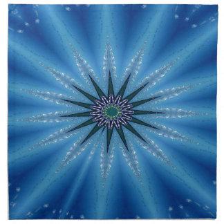 Cool Funky Artistic Royal Blue Starburst Pattern Napkin