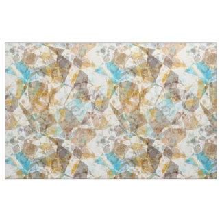 Cool Funky Modern Retro Polygon Mosaic Pattern Fabric