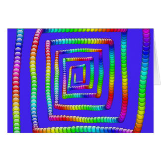 Cool Funky Rainbow Maze Rolling Circle Spheres Des Card