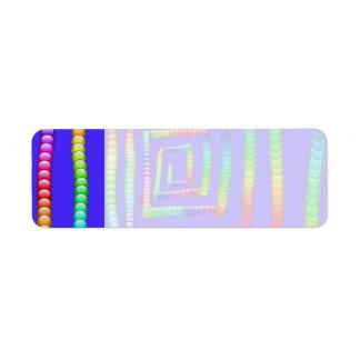 Cool Funky Rainbow Maze Rolling Circle Spheres Des Return Address Label