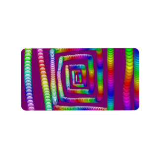 Cool Funky Rainbow Maze Rolling Marbles Design