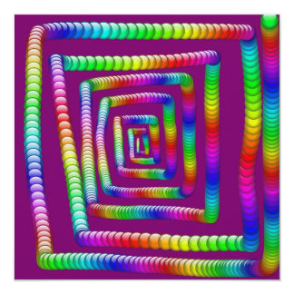 Cool Funky Rainbow Maze Rolling Marbles Design Custom Announcements