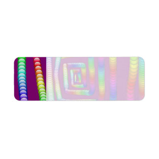 Cool Funky Rainbow Maze Rolling Marbles Design Return Address Label