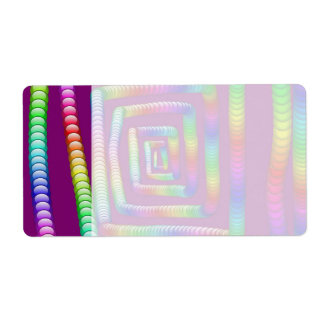 Cool Funky Rainbow Maze Rolling Marbles Design Shipping Label