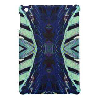 Cool Funky Shades of Blue Abstract Design iPad Mini Cover