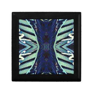 Cool Funky Shades of Blue Abstract Design Keepsake Box