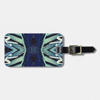 Cool Funky Shades of Blue Abstract Design Luggage Tag