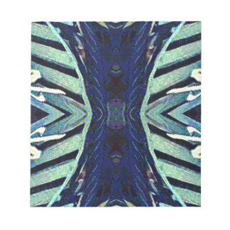 Cool Funky Shades of Blue Abstract Design Notepad