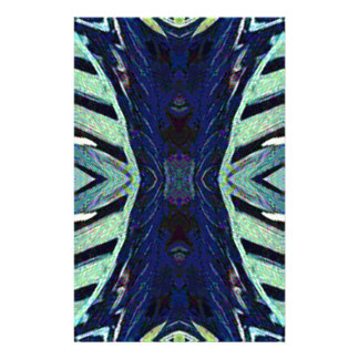 Cool Funky Shades of Blue Abstract Design Stationery