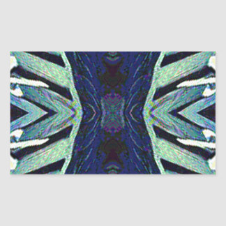 Cool Funky Shades of Blue Abstract Design Sticker