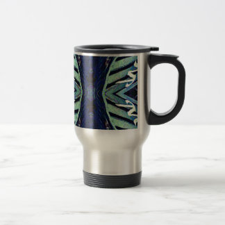 Cool Funky Shades of Blue Abstract Design Travel Mug