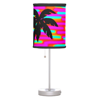 COOL FUNKY SUNSET PALM TREE TABLE LAMP