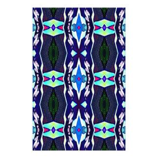 Cool Funky Tribal Kaleidoscope Pattern Stationery