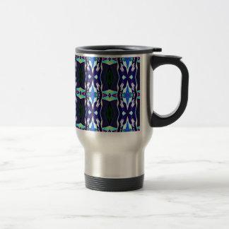 Cool Funky Tribal Kaleidoscope Pattern Travel Mug