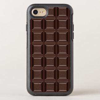 Cool Funny Chocoholic Dark Chocolate Block Rugged OtterBox Symmetry iPhone 7 Case