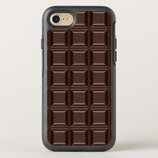 Cool Funny Chocoholic Dark Chocolate Block Rugged OtterBox Symmetry iPhone 8/7 Case