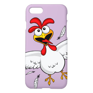 Cool Funny Cute Humorous Cartoon Chicken For Kids iPhone 8/7 Case