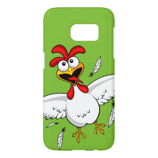 Cool Funny Cute Humorous Cartoon Chicken For Kids Samsung Galaxy S7 Case