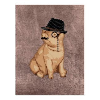 Cool funny piglet investigator cartoon postcard