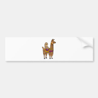 Cool Funny Sloth Riding Llama Bumper Sticker