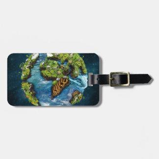 Cool Future Planet Earth Globe Design Luggage Tag