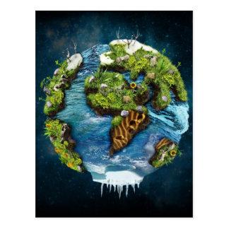Cool Future Planet Earth Globe Design Postcard