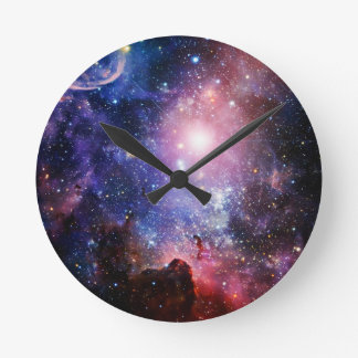 Cool galaxy nebula clocks