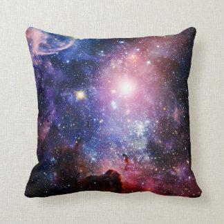 Cool galaxy nebula throw pillow