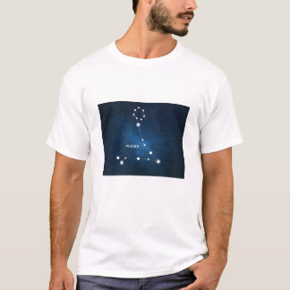 Cool Galaxy Star Pisces Constellation in Nebula T-Shirt