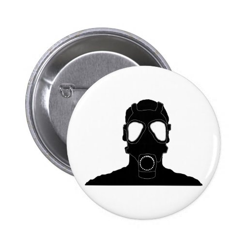 cool gas mask pinback buttons