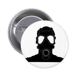 cool gas mask pinback button