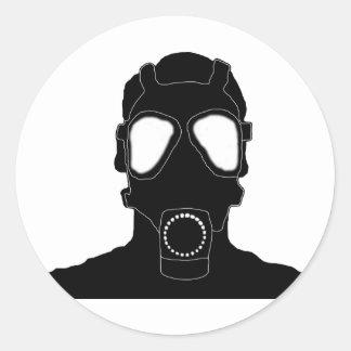 cool gas mask classic round sticker