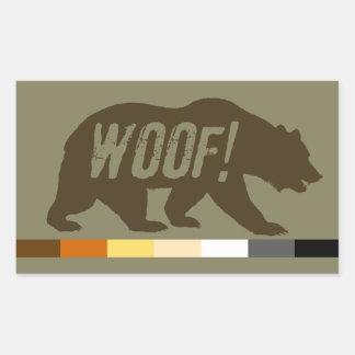 Cool Gay Bears Pride Bear Pride Flag WOOF Sticker