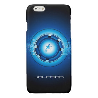 Cool Geek Blue Abstract Hi-Tech Concept Pattern