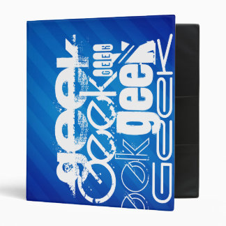 Cool Geek; Royal Blue Stripes 3 Ring Binders