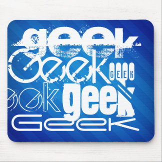 Cool Geek; Royal Blue Stripes Mouse Pad